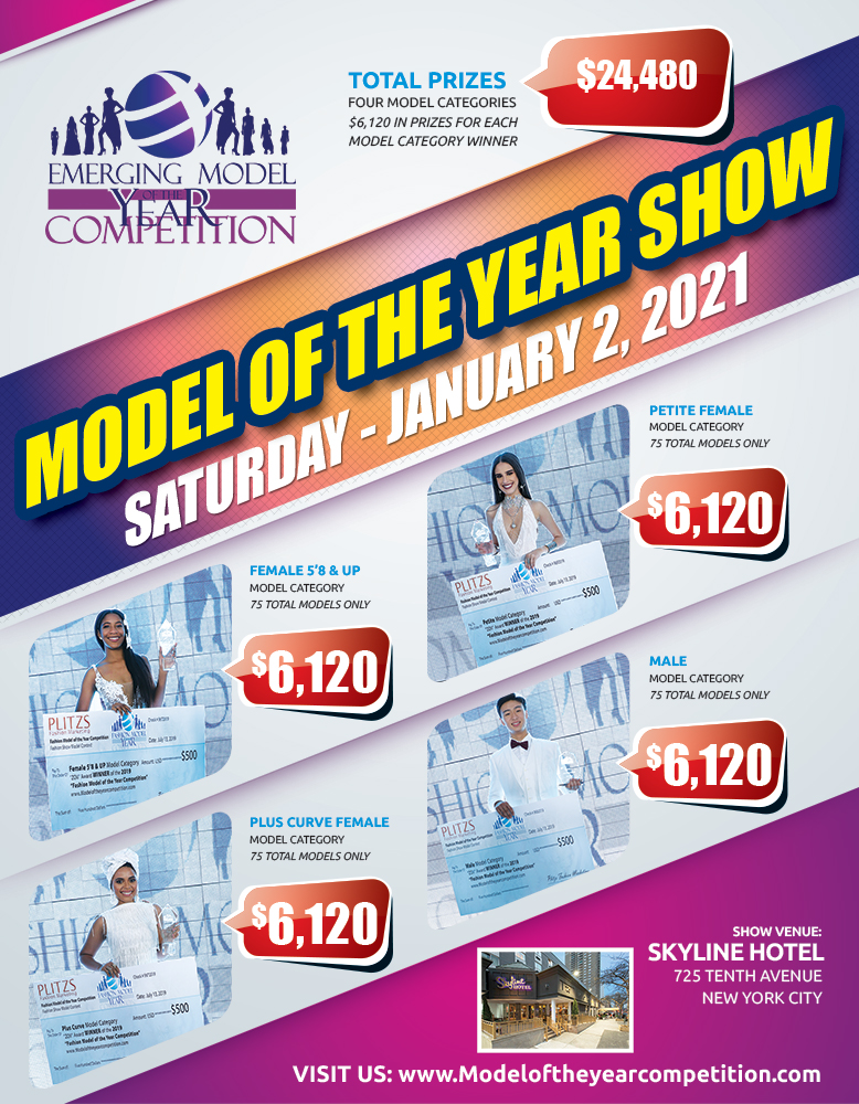 EMERGING MODEL OF THE YEAR COMPETITION 2021 SHOW IN NEW YORK CITY