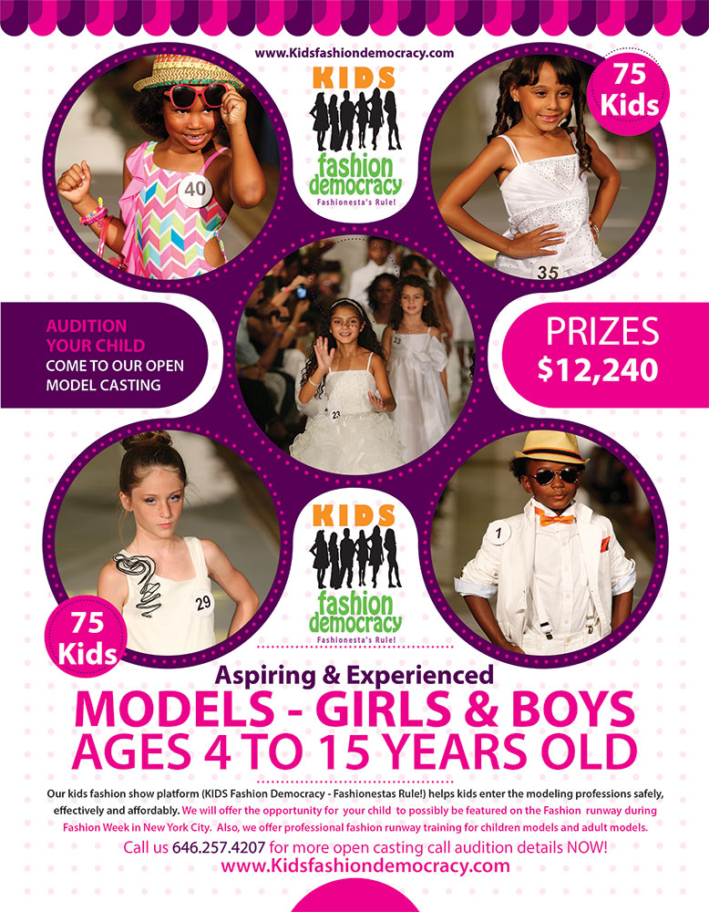 KIDS FASHION SHOW AUDITION - KIDS 9 TO 15 YEARS OLD MODEL