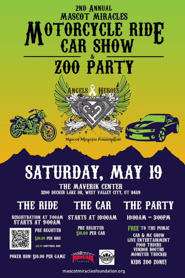 MascotMiracles Ride, Car Show and Zoo Party