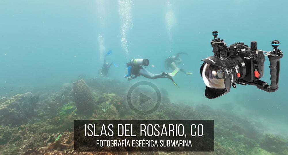 Fotografía Esférica VR 360 de Islas del Rosario SUBMARINA por Mario Carvajal