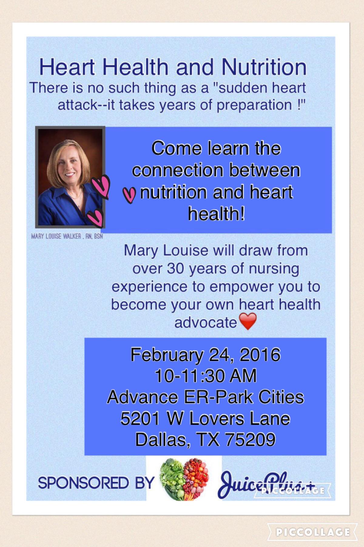 Heart Helath event flyer 2.24.16