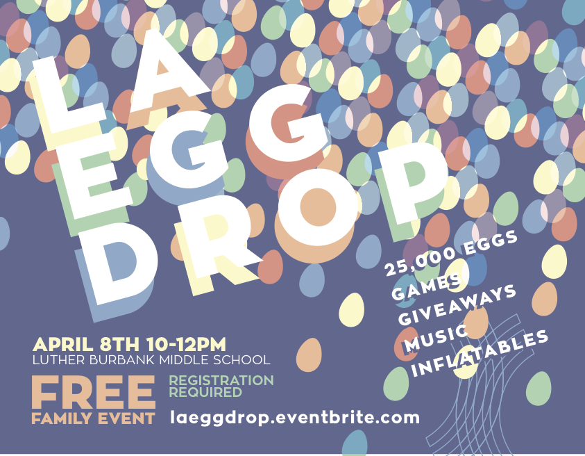Free family event with 25,000 eggs, inflatables, giveaways, face painting, balloon animals, giveaways and more.
