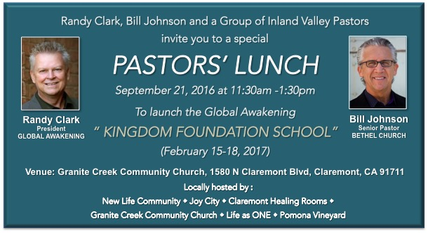 PASTORS' LUNCH Tickets, Wed, Sep 21, 2016 at 11:30 AM ...