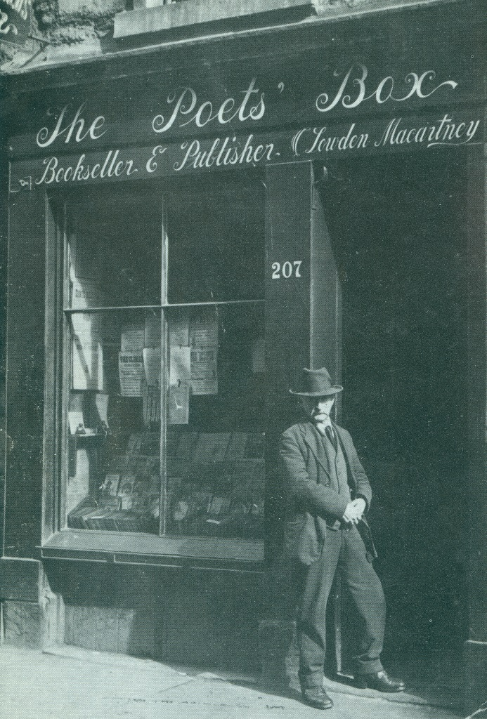 Image of man outside the Poetry Box Dundee