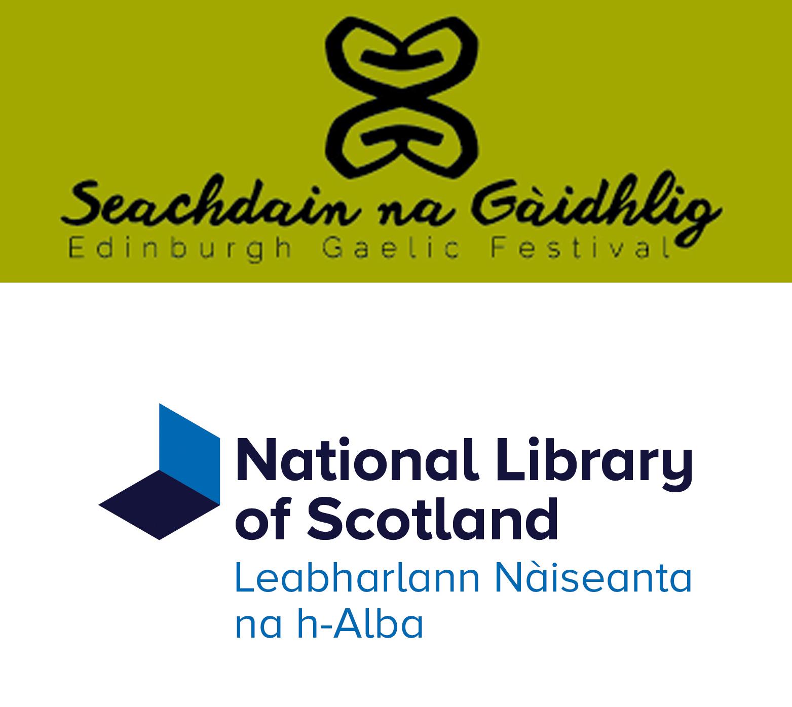 Gaelic Week logo and Library Logo