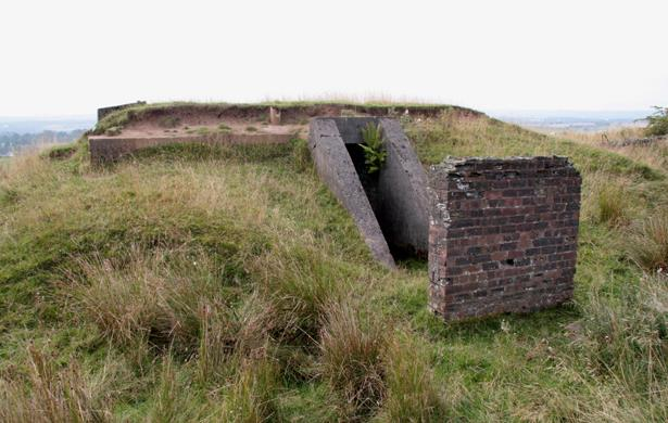 Image of remains of a decoy civil protection site