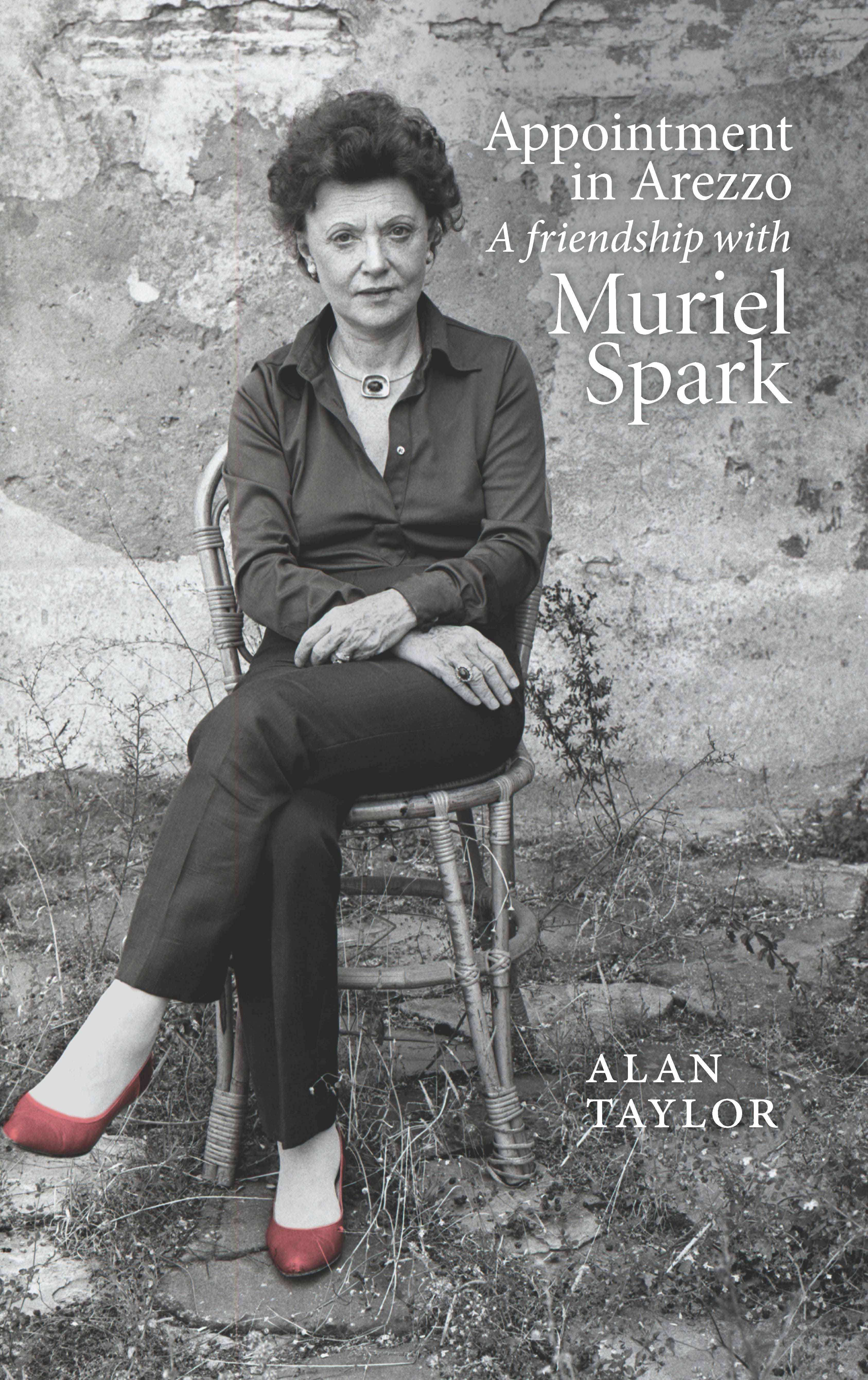 Book cover with image of Muriel Spark seated