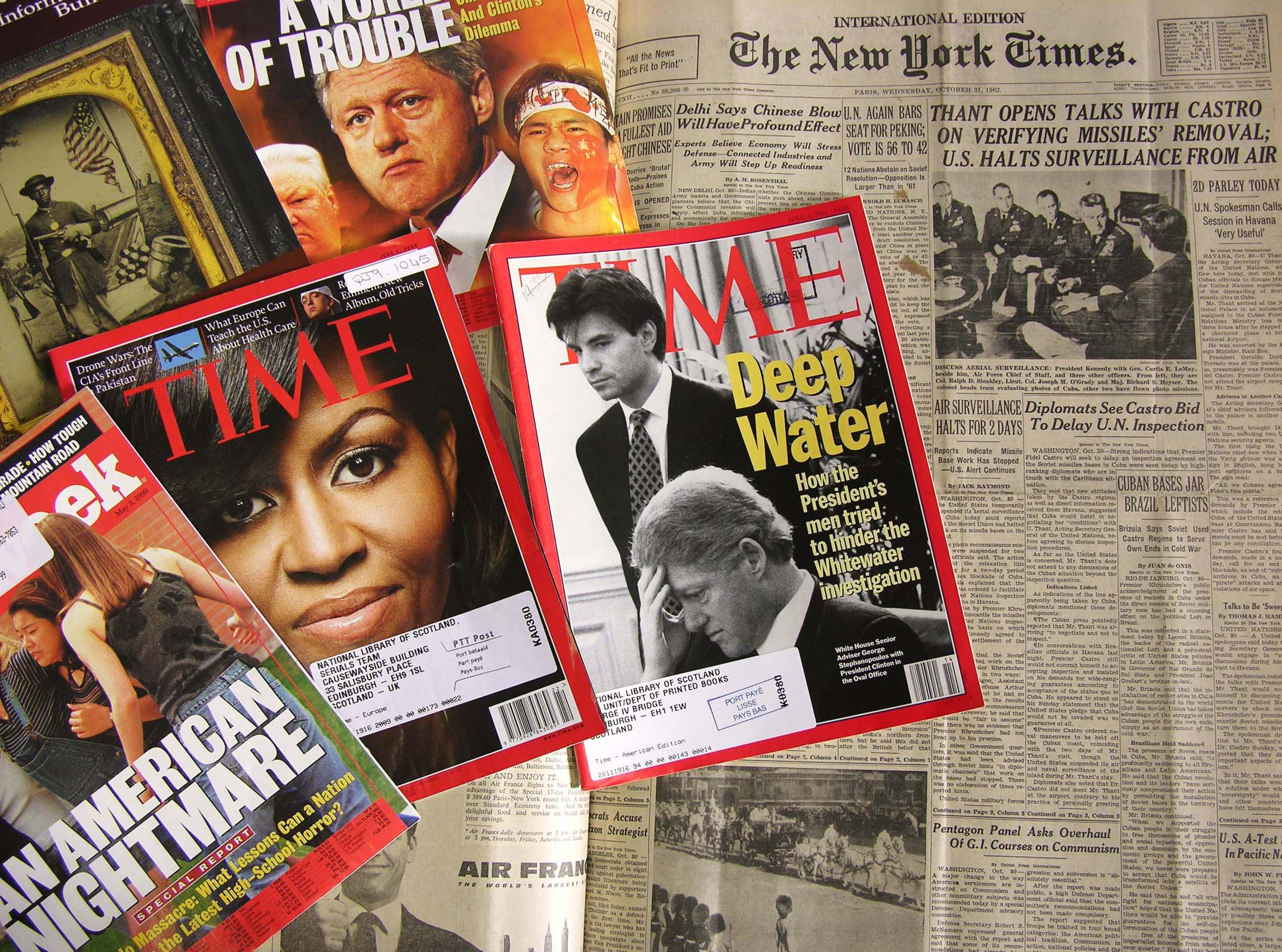 Image of american magazines and newspapers