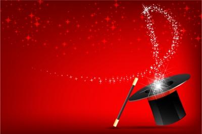 """""""Magic Wand And Hat"""" by digitalart / Image courtesy of FreeDigitalPhotos.net"""