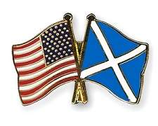 American and Scottish flags