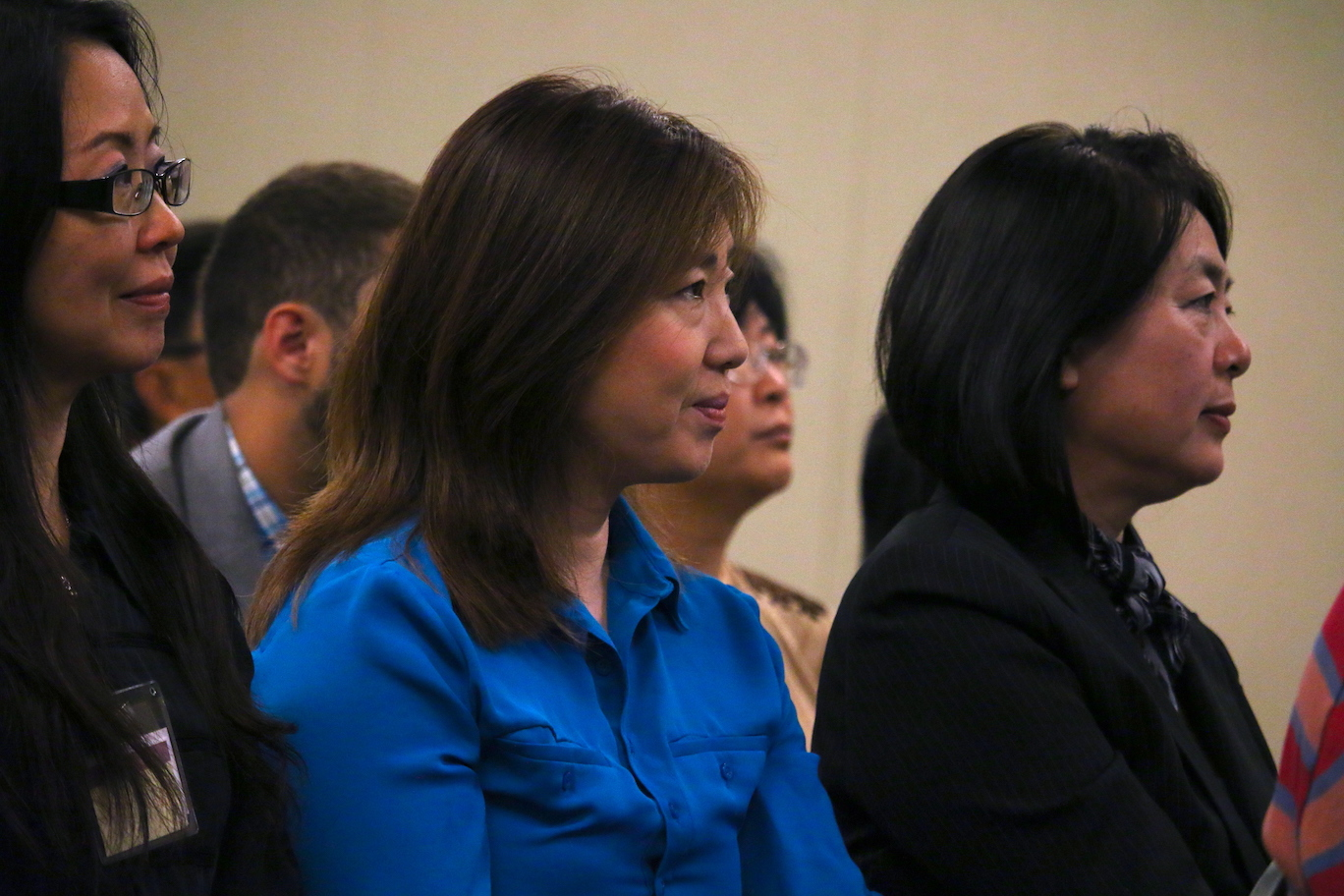 Members listening to a presentation