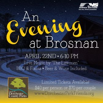 An Evening at Brosnan Forest to Benefit Friends of Dorchester County Parks Logo