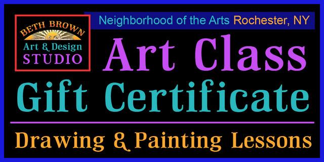 Art Class Gift Certificate