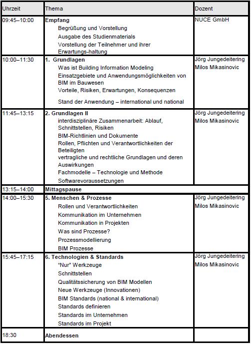 BIM Semniar NUCE GmbH