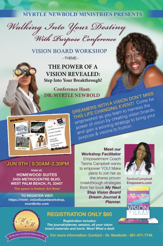 MNM Vision Board Workshop Flyer