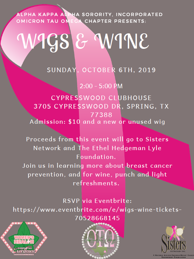 Wigs and Wine Flyer