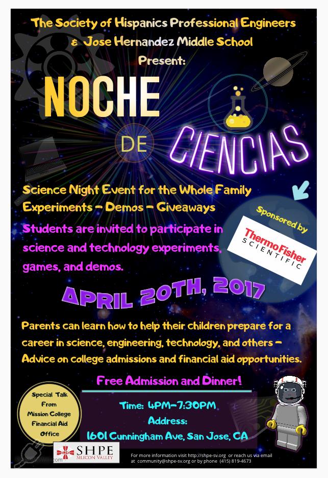 Noche de Ciencias Spring 2017