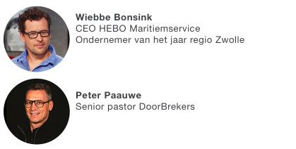 Met Wiebbe Bonsink en Peter Paauwe