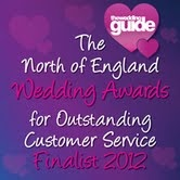 Finalists in th North of England Wedding Awards 2012