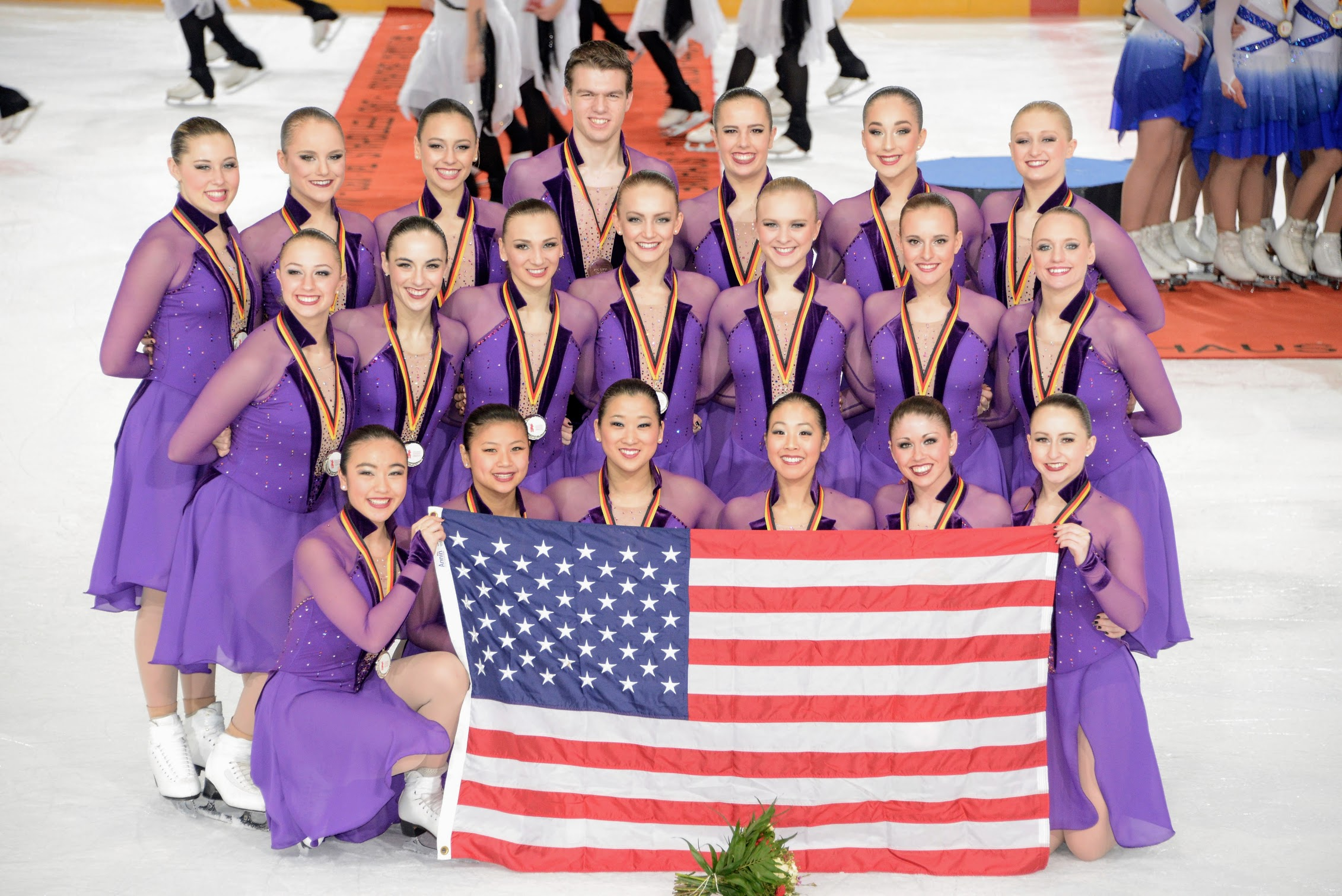 Haydenettes 2017 National GOLD medalists and 2016 World BRONZE medalists