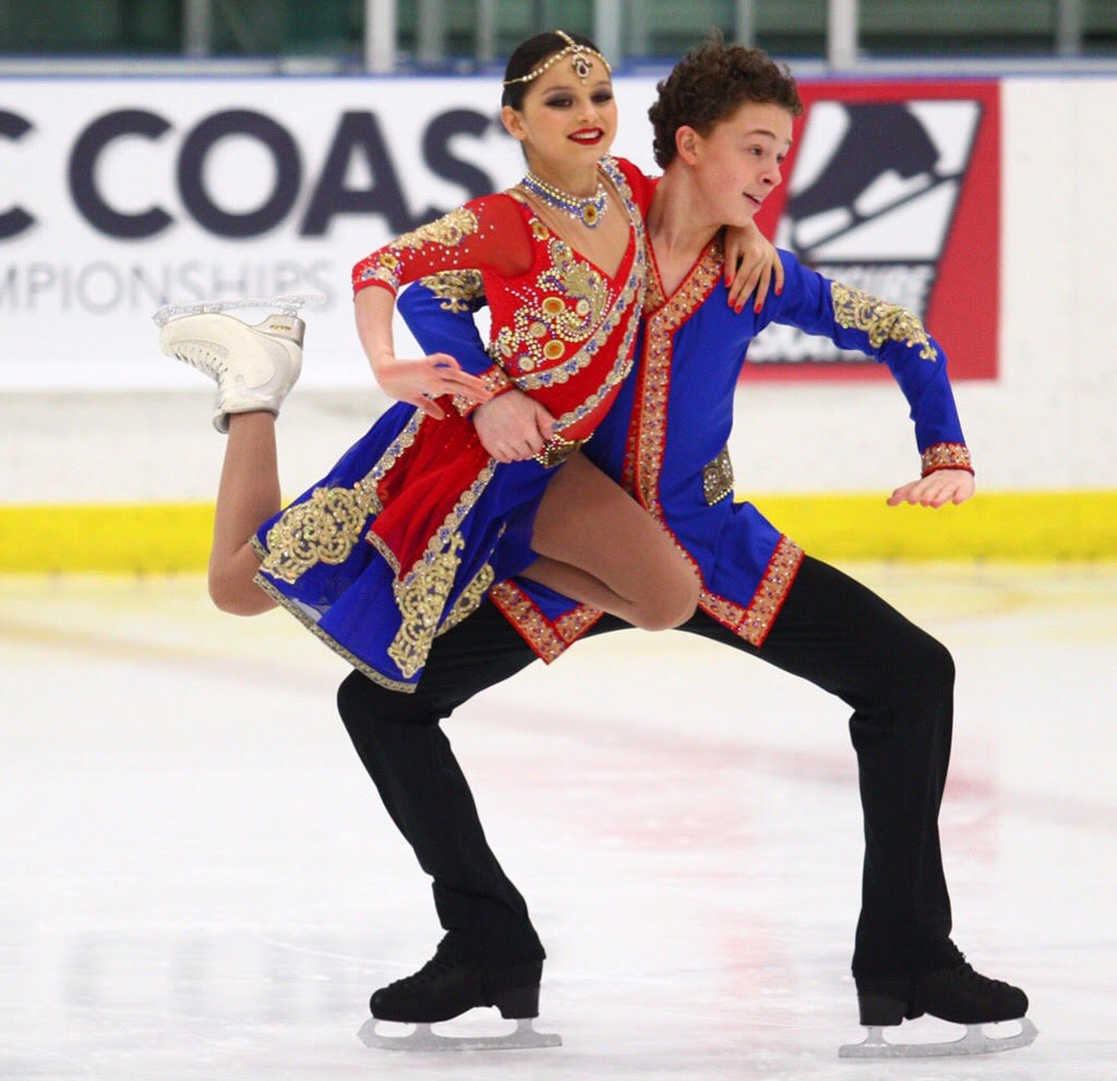 Katarina DelCamp and Maxwell Gart 2017 US National SILVER medalists Novice Dance and 2017 Bavarian Open BRONZE Medalists