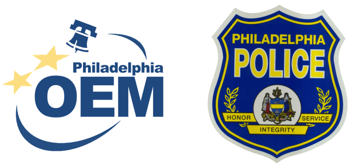 Logos of Philadelphia Office of Emergency Management and Police Department