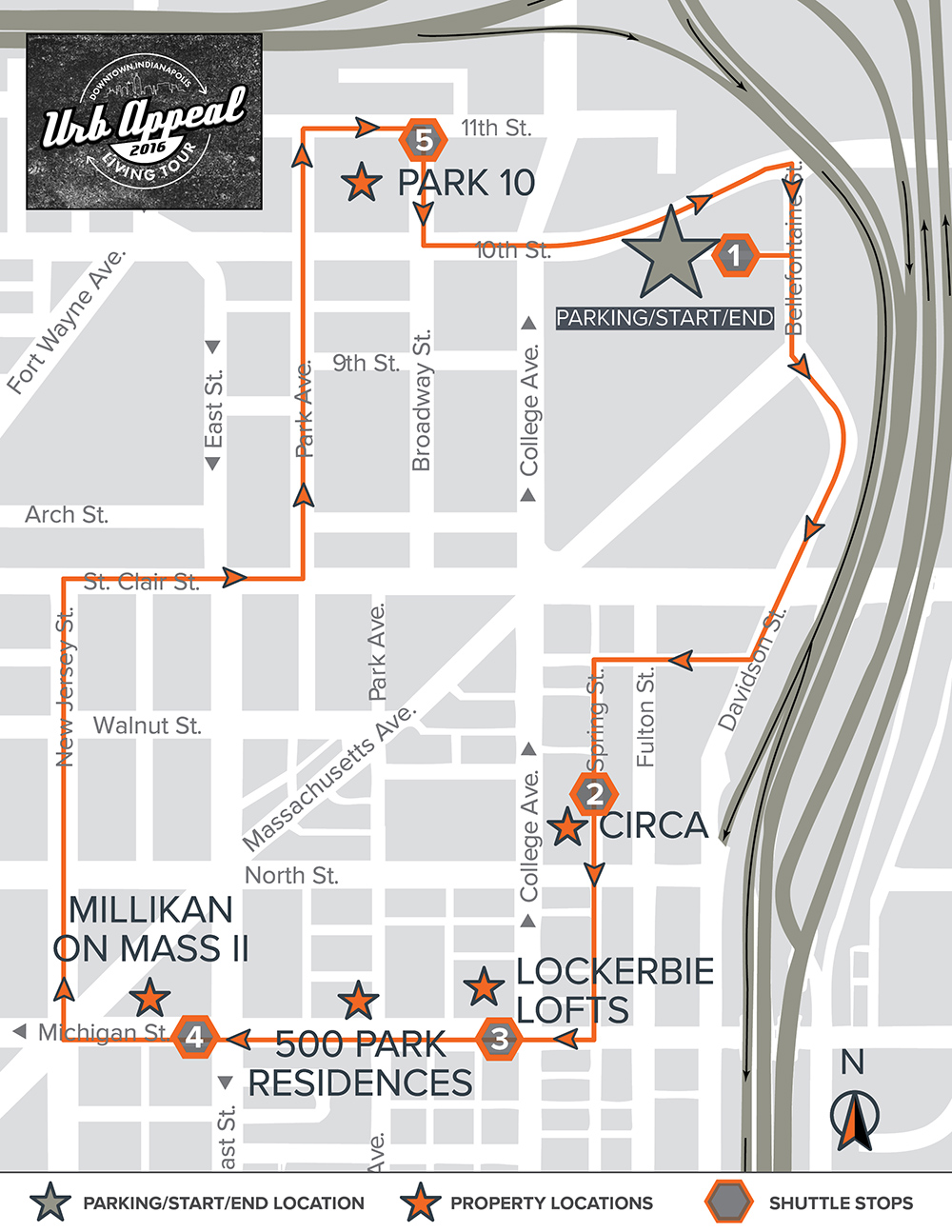 Urb Appeal - Downtown Living Tour Map