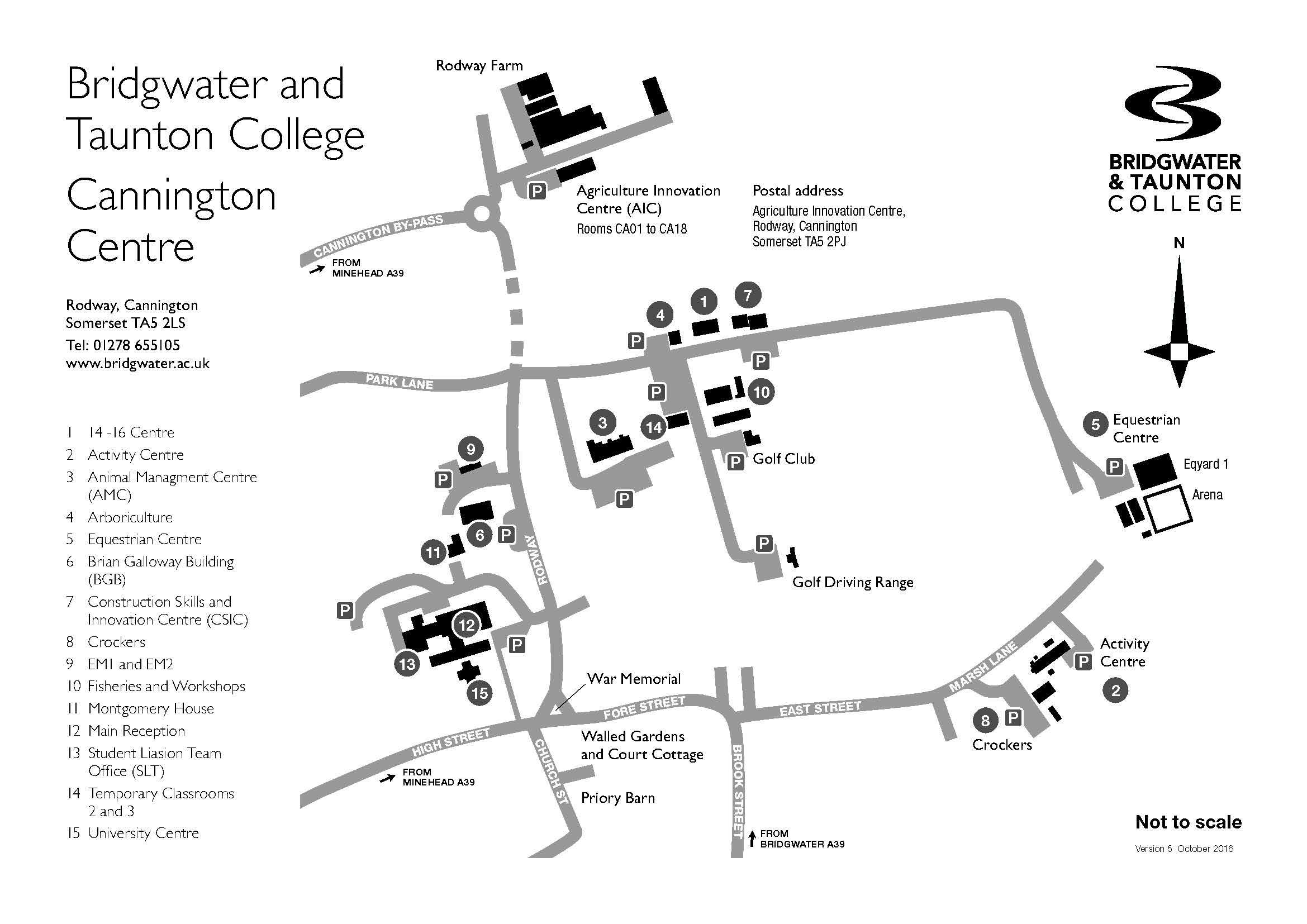 Bridgwater & Taunton College Map
