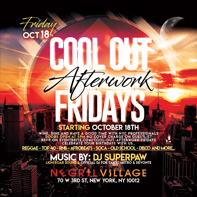 COOL OUT AFTERWORK FRIDAYS