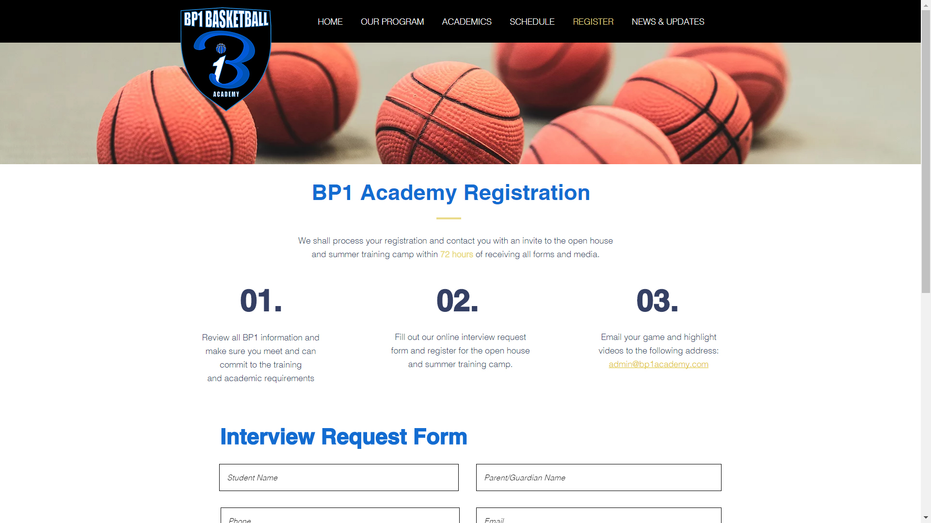 Blues P.H.A.S.E. 1 Basketball Academy (BP1) at Bond Academy is open for registration!