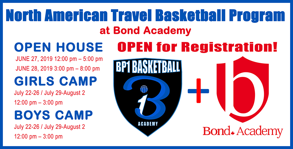 BP1 Basketball Program at Bond Academy_Free Open House June 27 & 28