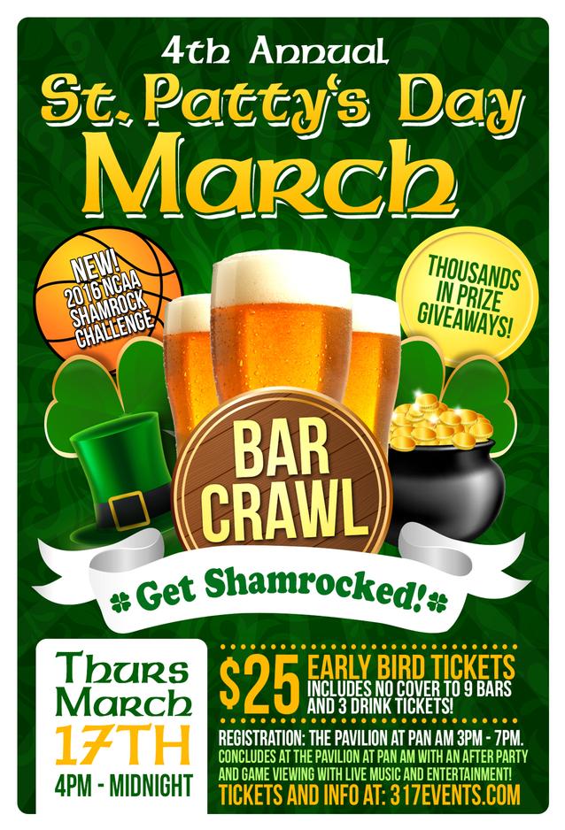 St Patty S Day March Madness Pub Crawl Tickets Thu Mar