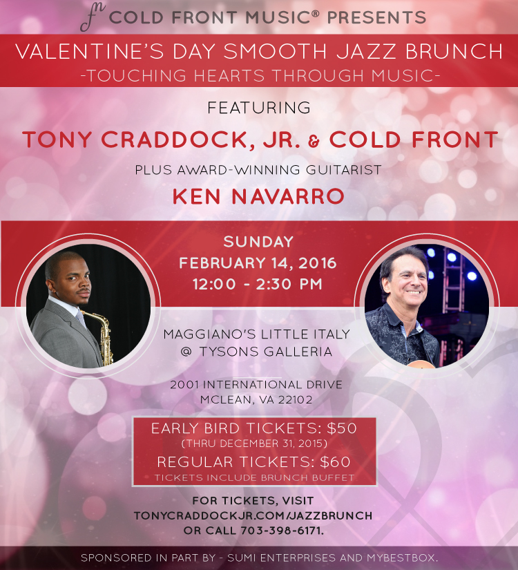 Valentine's Day Smooth Jazz Brunch Flyer