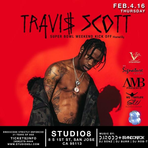 Travi$ Scott at Studio