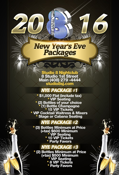Countdown to NYE Bottle Service