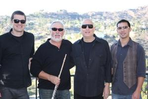 L TO R:  NATHAN LIGHT - BASS, JIM WALKER - FLUTE,  MIKE GARSON - PIANO, ANDREW BOYLE - DRUMS