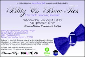 BLITZ & BOW TIES:    A SUPER BOWL NETWORKING RECEPTION