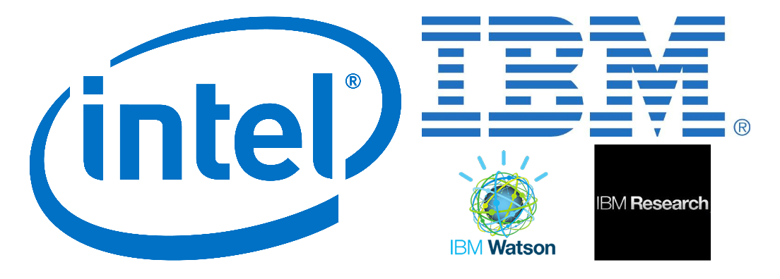 Intel and IBM logos