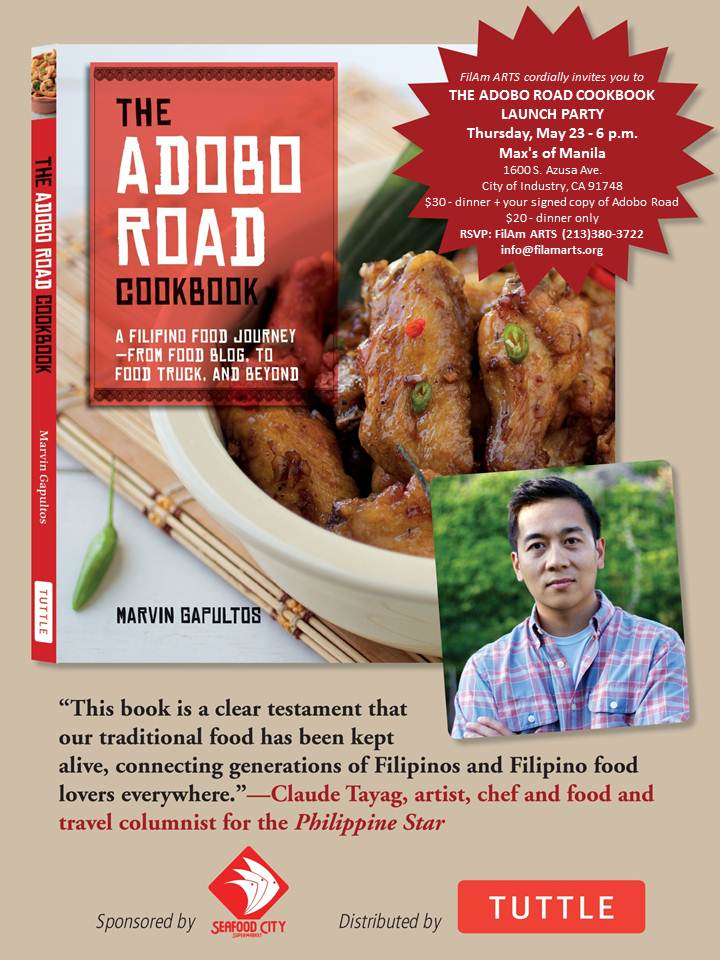 Adobo Road Cookbook Launch Party Flyer
