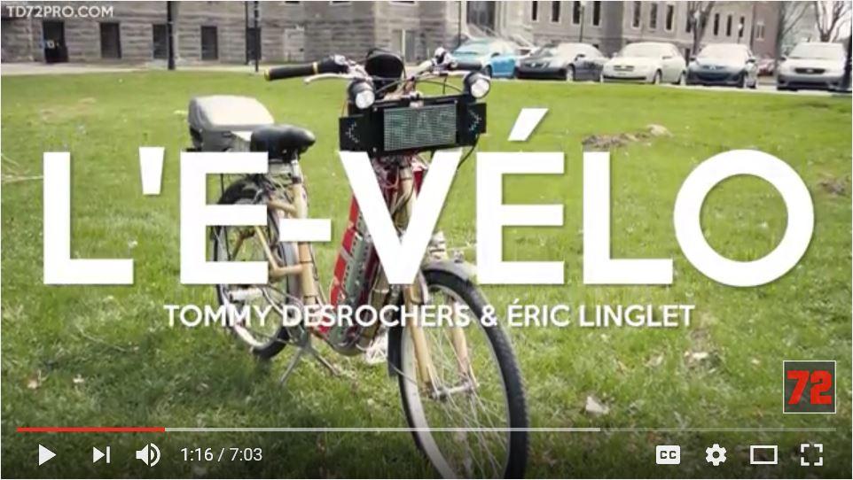 Vidéo du E-Vélo de Tommy Desrochers et Éric Linglet