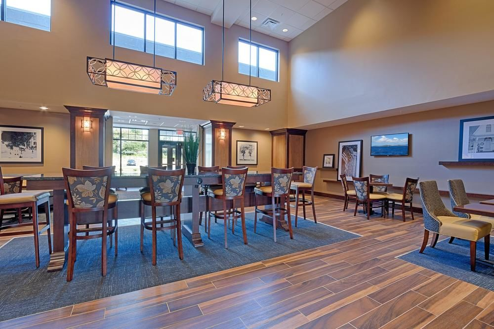 The beautiful and brand new Hampton Inn and Suites Lobby