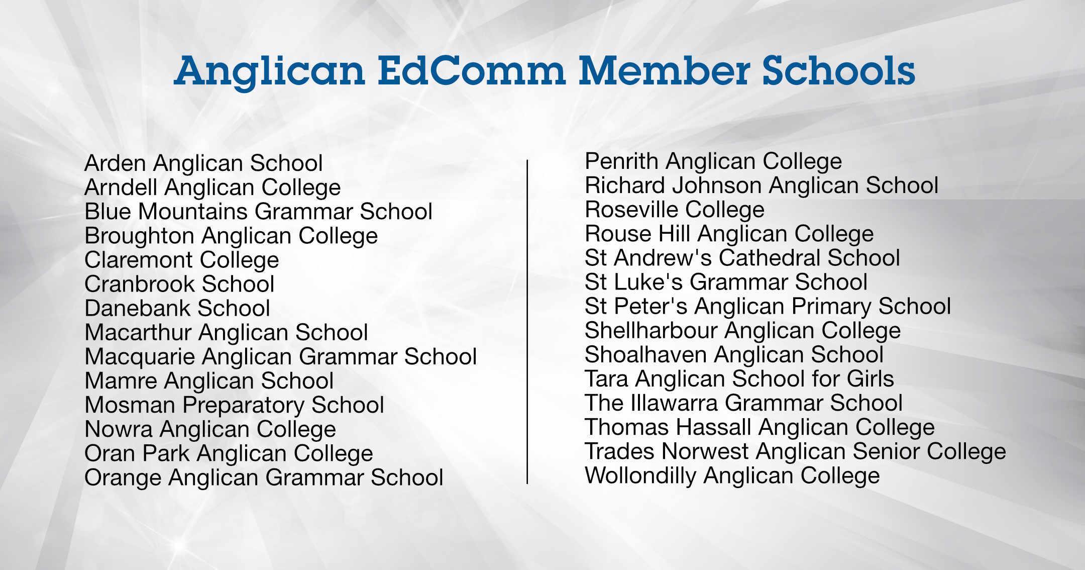 Anglican EdComm Member Schools