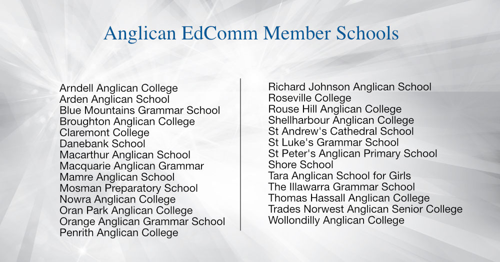Anglican EdComm Member Schools 2017