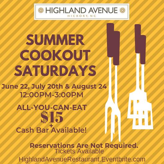 Summer Cookout Saturdays