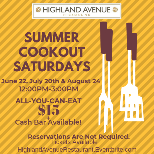 Summer Cookout Saturdays