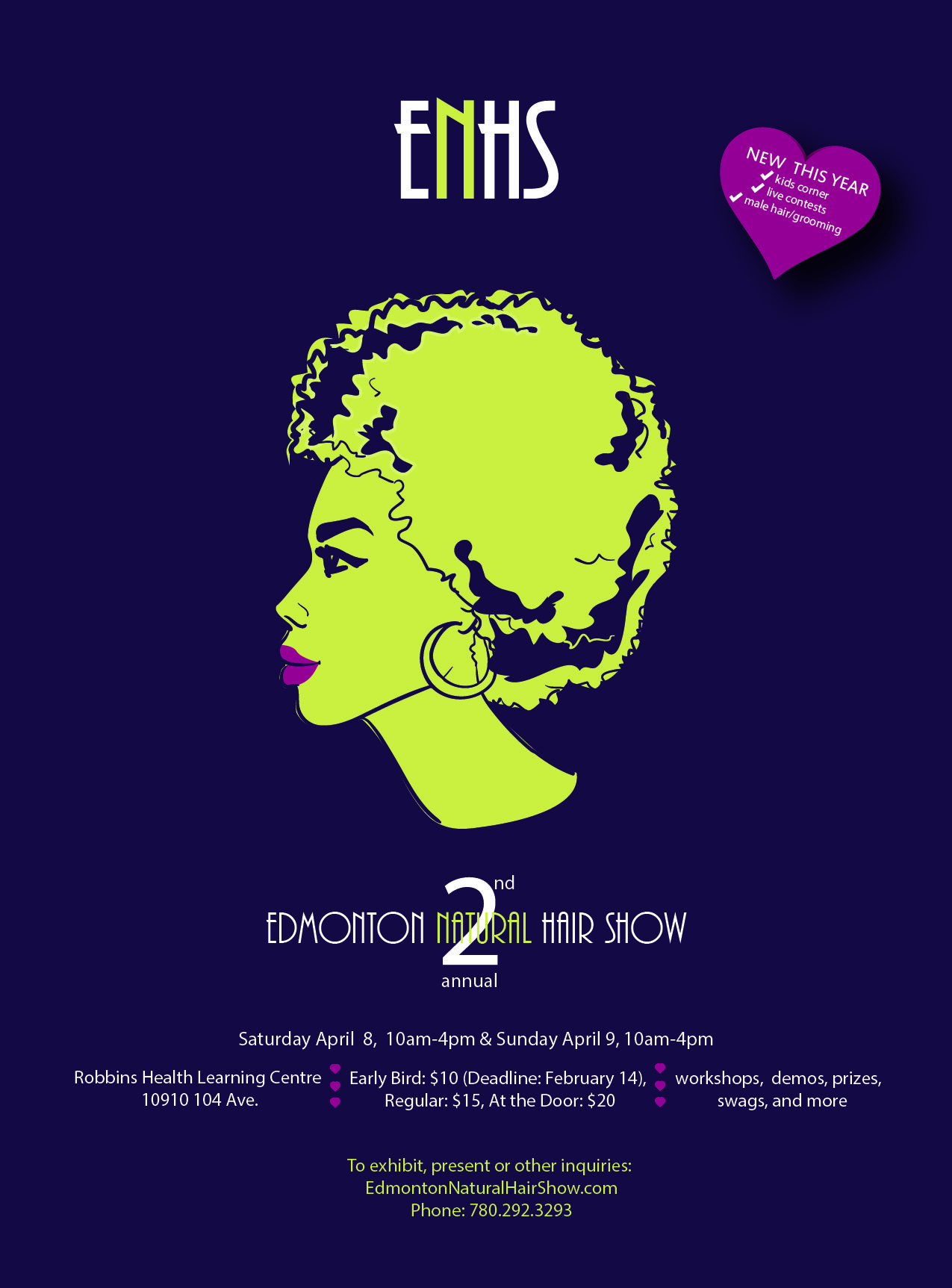 2nd Annual Edmonton Natural Hair Show_April 8-9_2017