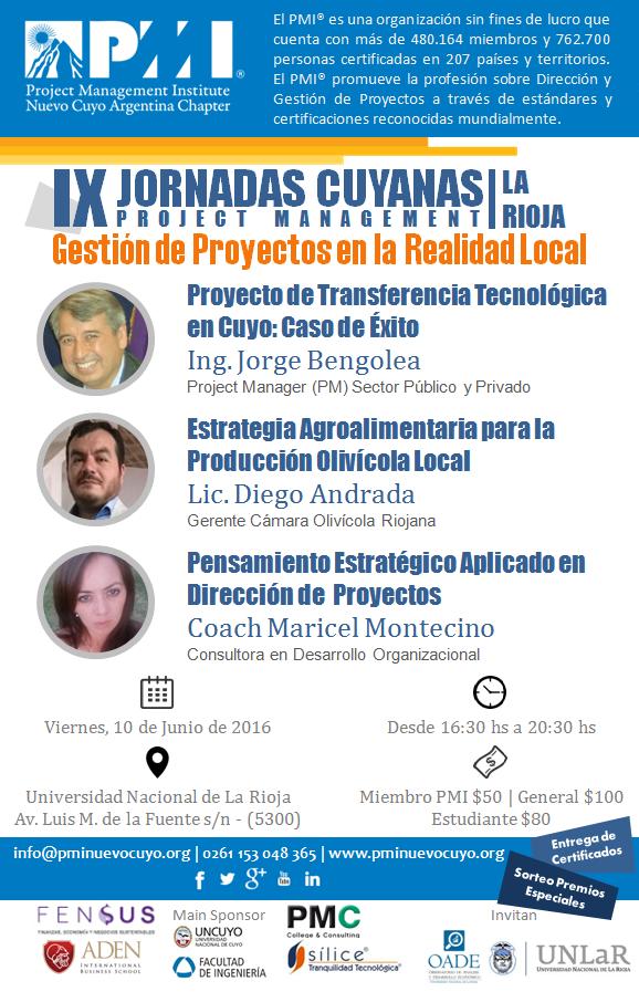 Jornadas Cuyanas PMI La Rioja 2016