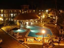 Pool Garden View at Night Ke Lindo Hotel