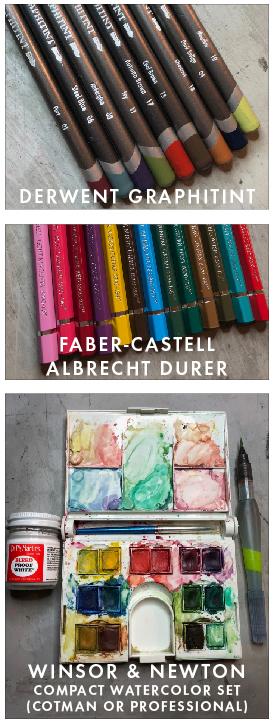 Flora paint and pencils