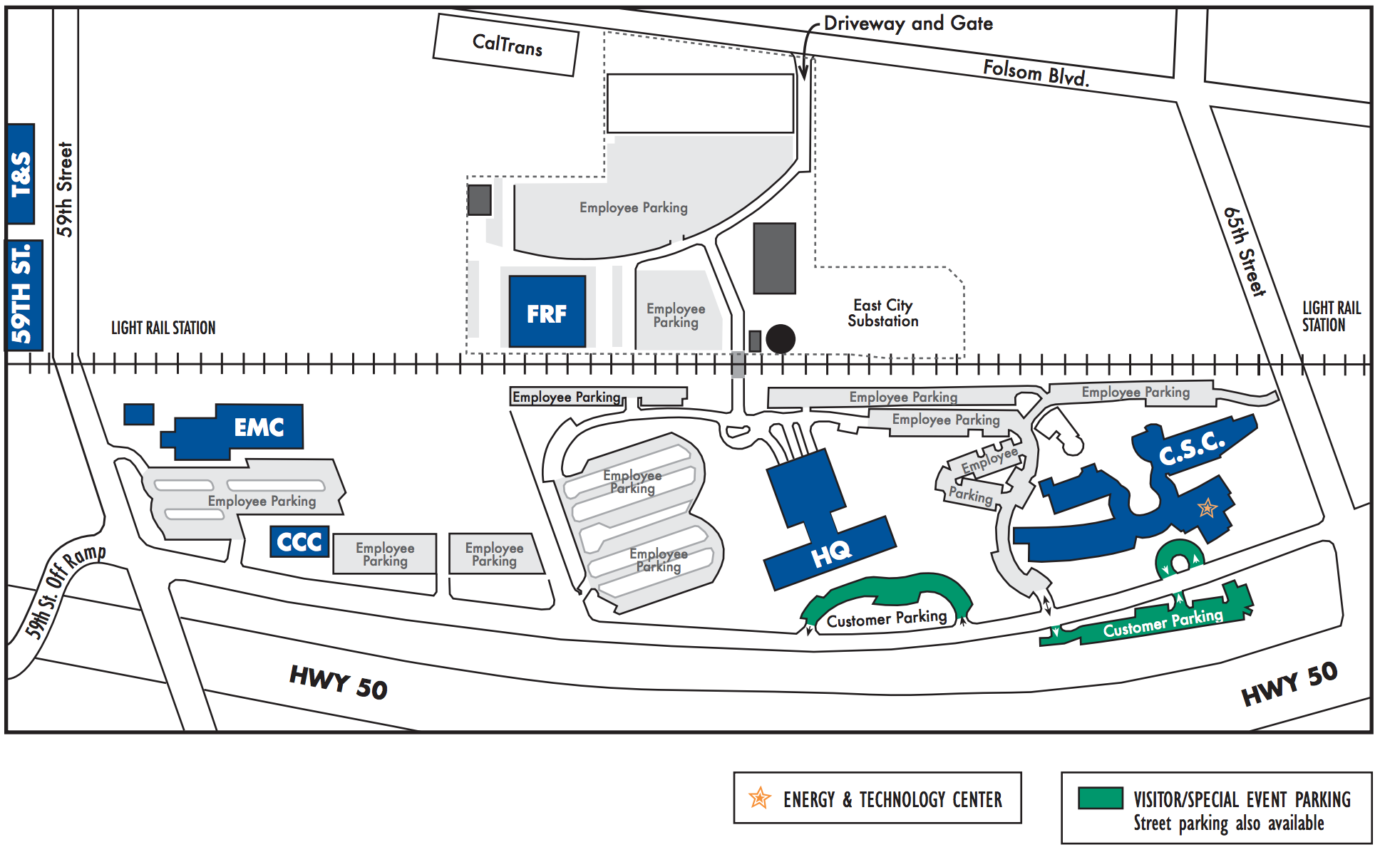 SMUD Parking Lot Map